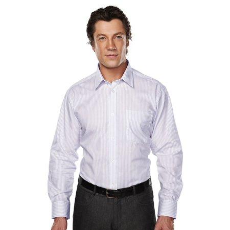 Tri Mountain Mens Wrinkles Resistant Striped Dress Shirt