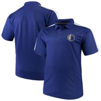 Dallas Mavericks Majestic Big & Tall Birdseye Polo - Blue/White