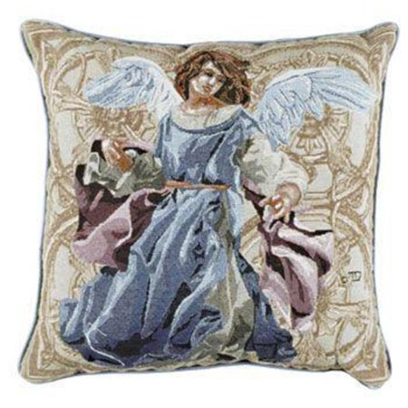 Hope Decorative Pillow : Angels of Hope Decorative Christmas Throw Pillow in Blue 17
