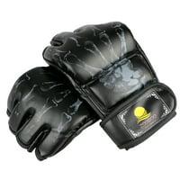 MMA UFC PU Leather Boxing Gloves Sparring Kick Thai Gym Punching Bag Half Mitt