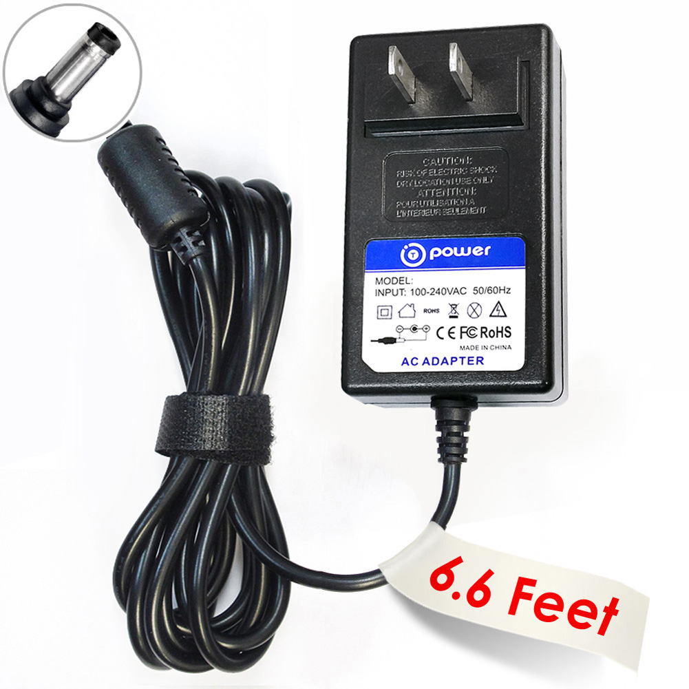 T-Power ((6.6ft Long Cable)) Ac Dc adapter for Gioteck RC-3 Foldable & Xenta Folding Gaming Chair - PC/Mac/Xbox 360/Xbox One/PS3/PS4 Charger Power Supply Cord