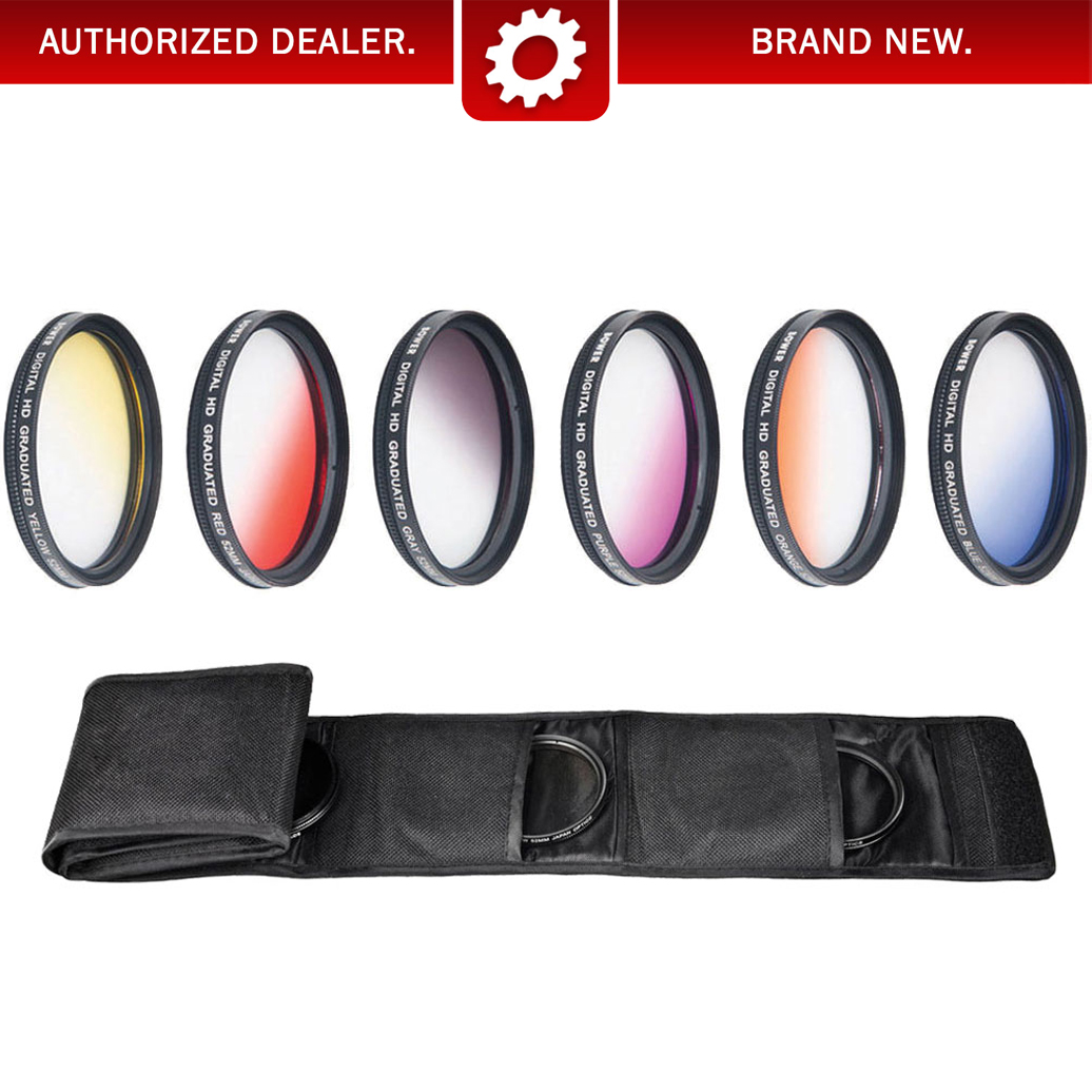 52mm Graduated Color Multicoated 6pcs Filter Set with Fold Up Pouch (Deco Gear)