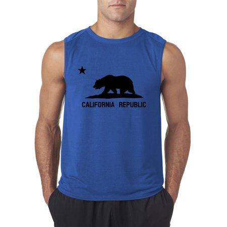 8e3c93a4076b16 New Way 975 - Men s Sleeveless California Republic Vintage Grizzly ...