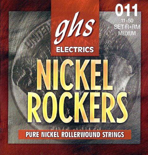 GHS Strings R RM Rollerwound Pure Nickel Electric Guitar Strings (.011-.050) by GHS