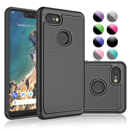 official photos 97697 af3e7 Google Pixel 3 XL Case, Google Pixel 3 XL Sturdy Case, Google Pixel 3 XL  Cover, Njjex Shock proof Hybrid Dual Layer Protective Armor Bumper Cover  For ...