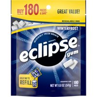 ECLIPSE Winterfrost Sugarfree Gum, 180 Pieces, 8.8 oz. Bag