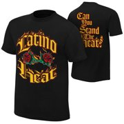 """Official WWE Authentic Eddie Guerrero """"Can You Stand the Heat"""" Retro T-Shirt Black Small"""