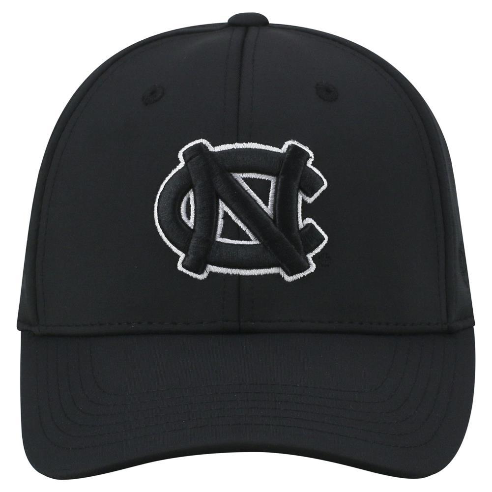 5bd7098f2d1ef North Carolina Tarheels UNC Men s Black Hat Tension 1Fit Black Cap -  Walmart.com