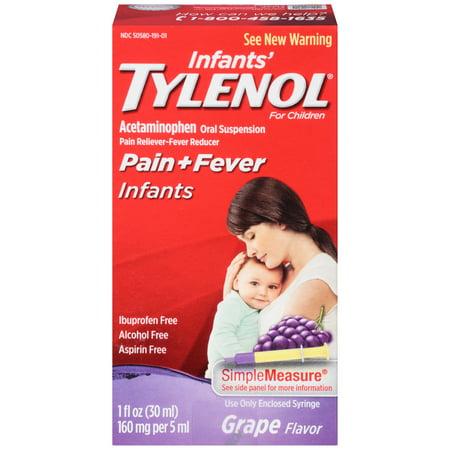 Tylenol suspension orale de nourrissons, de raisin, 1 oz