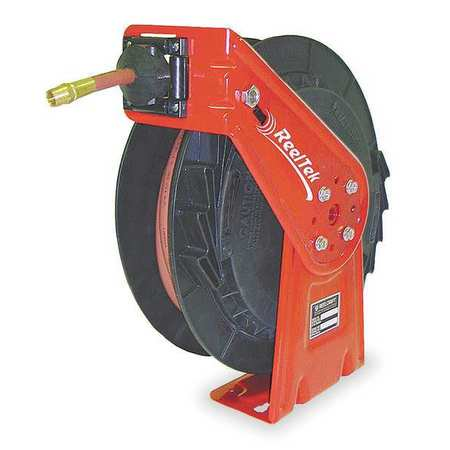 "REELCRAFT RT835-OMP 1/2"" x 35 ft. Spring Return Hose Reel, Max 1000 psi, w/Hose"