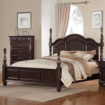 Homelegance Townsford Poster Bed In Dark Cherry    California King