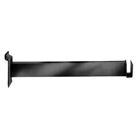 "Econoco - EBL/FB - 12"" Black Bracket to Hold Rectangular Tubing Hangrail for Slatwall Pack of 24"