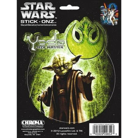 Star Wars Yoda Color Decal - image 2 de 2