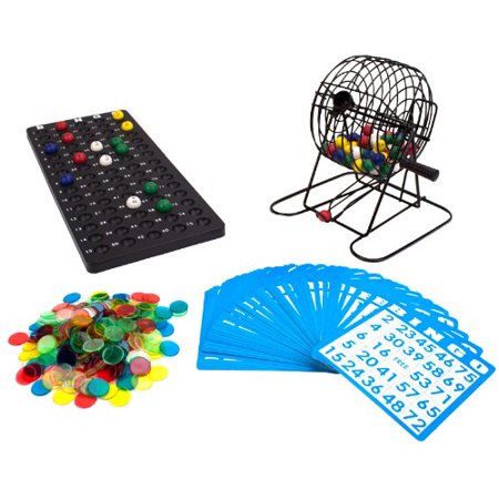 Royal Bingo Supplies Deluxe 6-Inch Game with Colored Balls, 300 Bingo Chips and 50 Bingo Cards