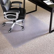 """ES Robbins Chair Mat for Carpet - Extra High Pile, 36"""" x 48"""" Rectangle, Clear"""
