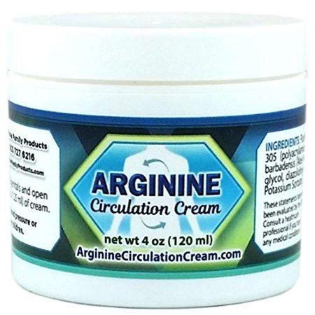 Arginine Circulation Cream - Blood Circulation Supplement with L arginine and Menthol - Supports Improved Blood Flow to Cold Hands and Cold Feet - Relieves Neuropathy Pain (4 Ounce)