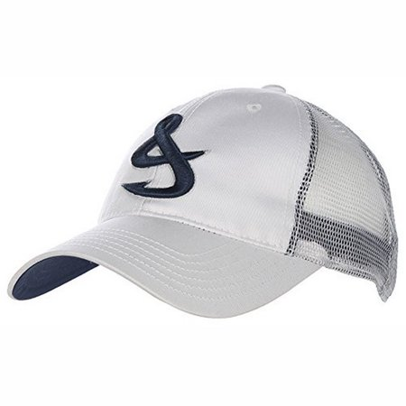 Hook tackle men 39 s fishing trucker baseball cap hat white for Fishing hats walmart