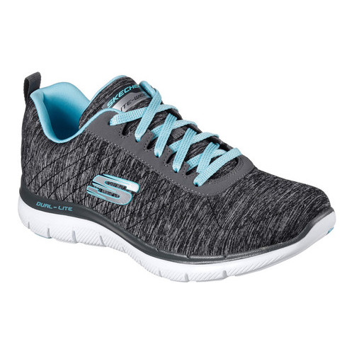 Skechers Womens//Ladies Flex Appeal 2.0 Jersey Knit Bright Side Active Trainers