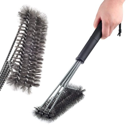 Grill Brush Bristle Free - Safe BBQ Cleaning Grill Brush and Scraper - 18