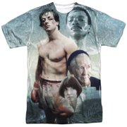 Rocky 1970's Sports Boxing Action Movie Montage Adult 2-Sided Print T-Shirt