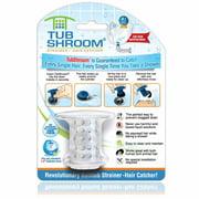 Tubshroom 2161-WP-120 Round Drain Hair Catcher, Silicone, Clear
