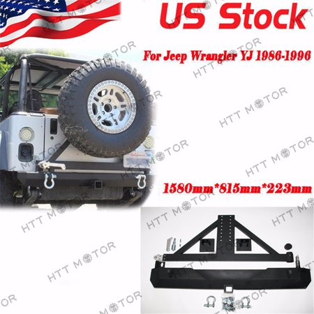 Jeep Bumper Tire Carrier - HTTMT- For 87-06 Jeep Wrangler YJ TJ Rock Crawler Rear Bumper Tire Carrier Swing&D-RING