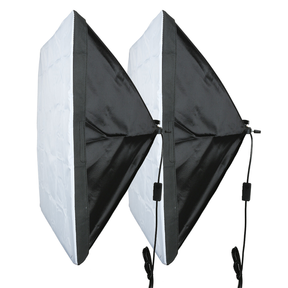 2Pcs US Plug 60cmx60cm Single Flash Umbrella Softbox for Photo Video Studio