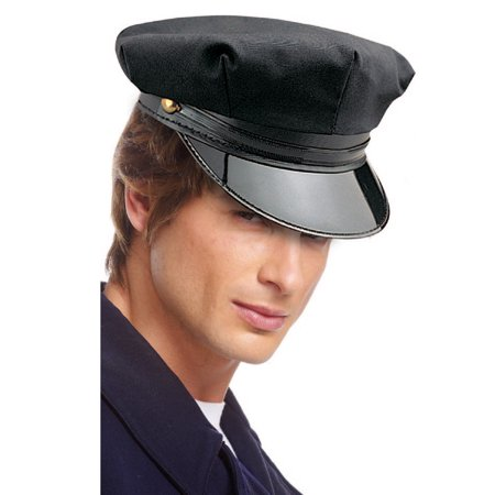 Chauffeur Limo Driver Escort Hat Adult Mens Halloween Costume Accessory (Cheap Chauffeur Hats)