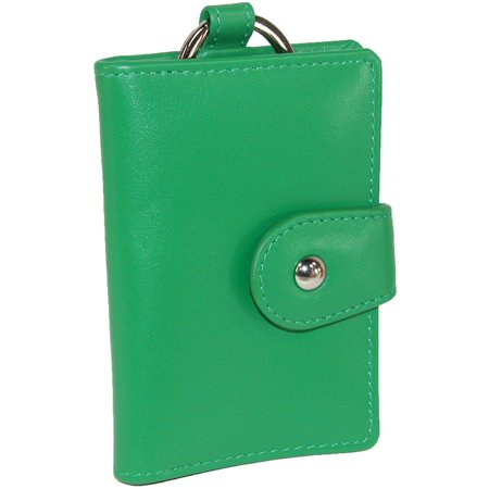 Size one size Women's Leather Card and ID Holder Key Chain Fob ()