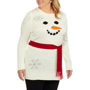 Holiday Women's Plus Snowman Tunic Sweat