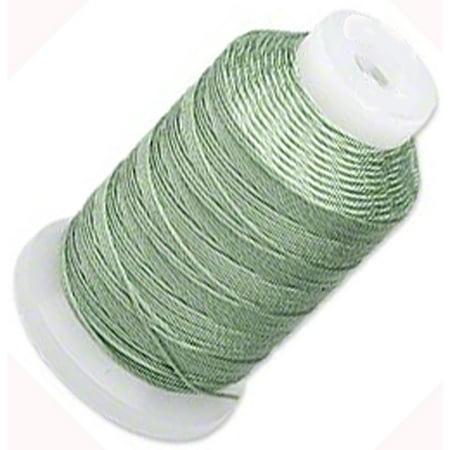 Silk Thread Cord Size E Medium Green 0.0128 Inch 0.325mm Spool 200 Yd