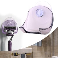 FAGINEY Razor Holder Wall-mounted Suction Cup Shaver Rack Hanger Bathroom Accessories, Wall-mounted Razor Holder, Shaver Rack
