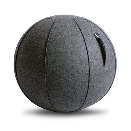High Supply Luno - Sitting Ball Chair for Office and Home, Lightweight Self-Standing Ergonomic Posture Activating Exercise Ball Solution with Handle & Cover, Classroom & Yoga Anthracite
