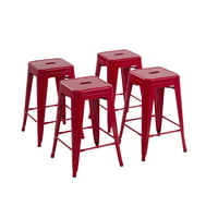 Set of 4 Howard 24 inch Metal Bar Stool