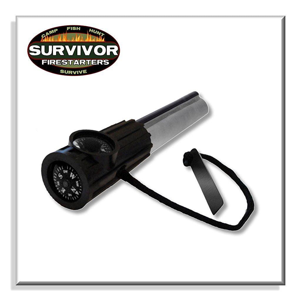 Survivor Fire Starters Magnesium Firesteel Black, Flint and Steel by Survivor