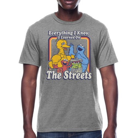 Men's Sesame Street Everything I know Graphic Tee, Available up to size 3XL