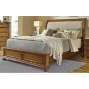 Bed in Medium Wood Finish