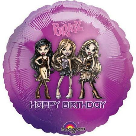 18'' Bratz Passion 4 Fashion Happy Birthday Foil Balloon (Happy Birthday Fashion)