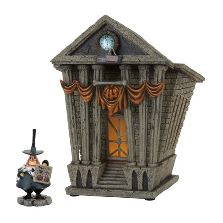 Dept 56 D56 Village Misc Halloween Town City Hall 4058118 (Disney Halloween Town Cast)