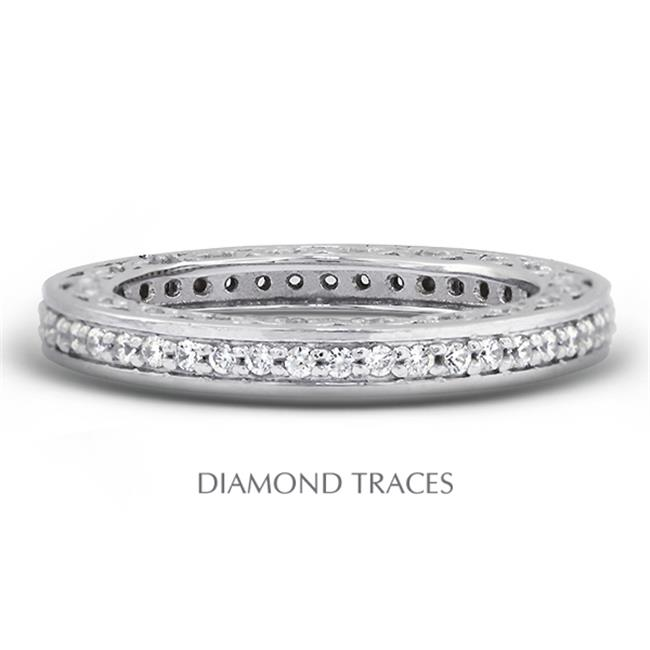 Diamond Traces UD-EWB452-8884 14K White Gold Pave Setting...