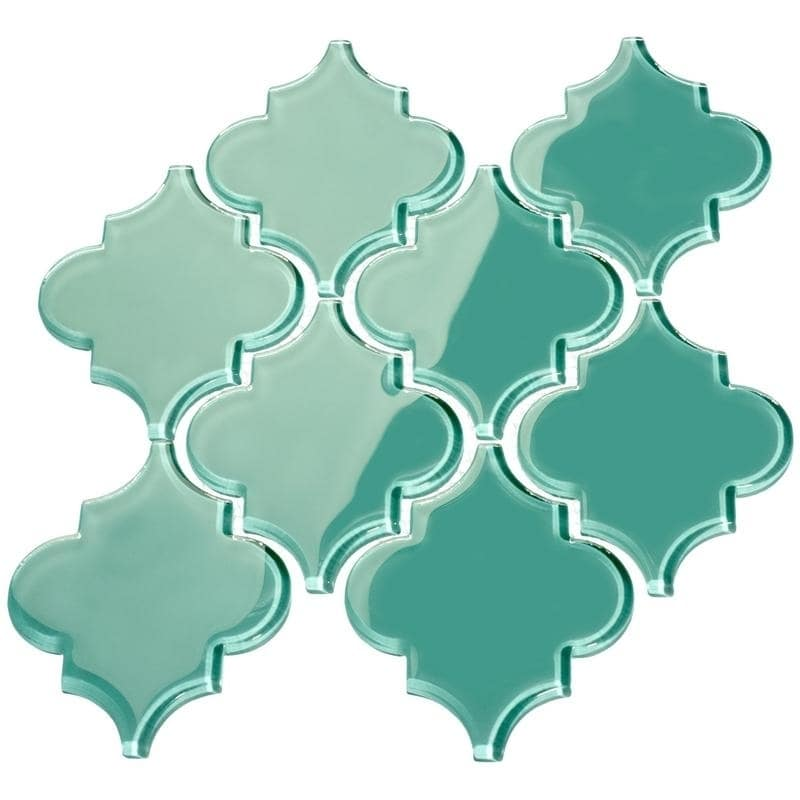 Giorbello Teal' Arabesque Water Jet Tiles (7 Square Feet) (11 Sheets)