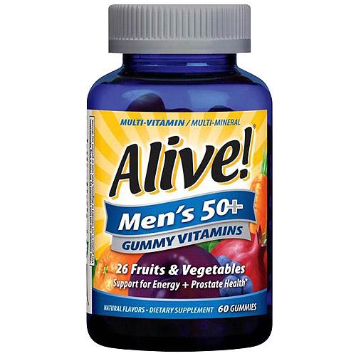 Alive! Men's 50+ Gummy Vitamins, 60 count