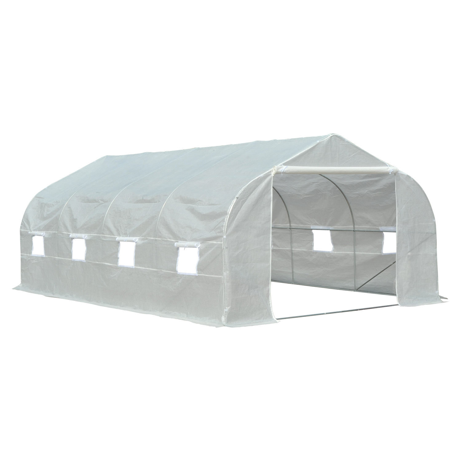 Outsunny 19.5 Portable Walk-In Garden Greenhouse White by Aosom