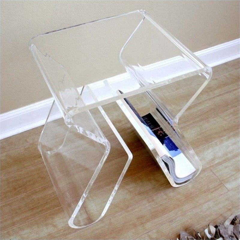 Click here to buy Atlin Designs Acrylic Magazine Rack End Table by Atlin Designs.