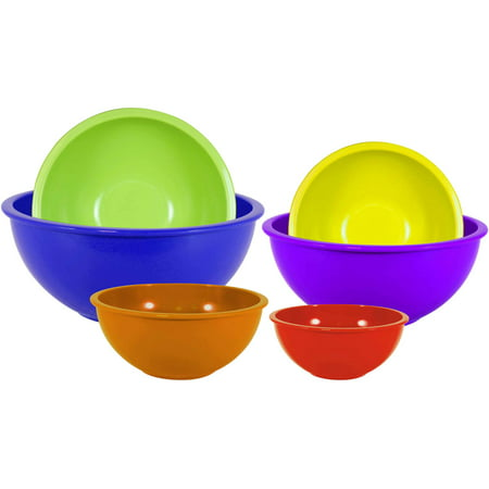 Gourmet Home Products 6-Piece Nested Polypropylene Mixing Bowl Set Nested Mixing Bowl Set