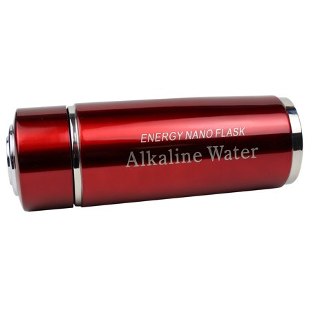 2 Pack Red Alkaline Energy Flask Ionizer Water Bottle With (Red Water Bottle)