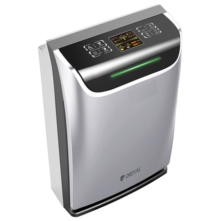 Dreval D-950 Intelligent All-in-One Air HEPA Purifier Humidifier UV sterilizer Ion Generator Air Quality Sensor (Hepa Filter Humidifier)