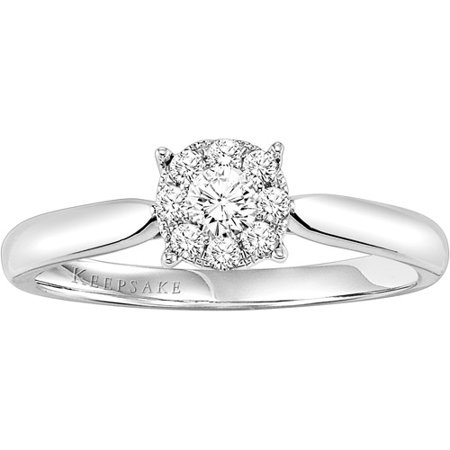 keepsake harmony 14 carat tw certified diamond sterling silver engagement ring - Sterling Silver Diamond Wedding Rings