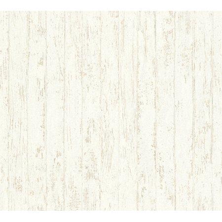 Best OF Wood'n Stone - Modern Wood Stone Brick Beige Wallpaper Roll - image 1 de 1