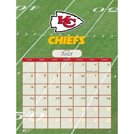 Kansas City Chiefs Jumbo Dry Erase Sports Calendar